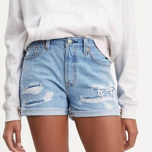 Levi's NWT 501 Mid-Rise Button Fly Fray Shorts 29